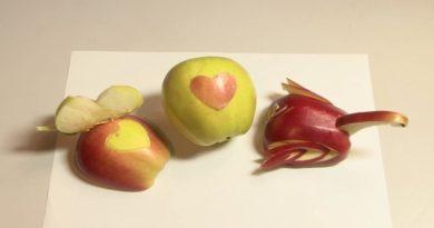 Украшения из яблок